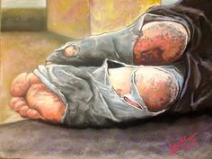 Walk a Mile in My Shoes  9x12 Pastel Giclee Print. $35.00, via Etsy.