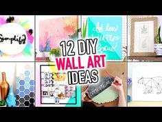 12 EASY Wall Art & Room Decoration Ideas - DIY Compilation Video - HGTV Handmade - YouTube