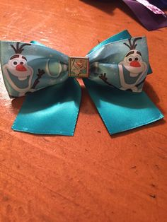 A personal favorite from my Etsy shop https://www.etsy.com/listing/224459610/olaf-inspired-hair-bow