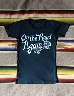 On The Road Again Women's T Shirt Black/White