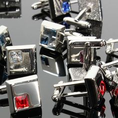 amazones gadgets Men Cufflinks Stainless Steel Silver Vintage Square Crystal Wedding Party Gif: Bid: 10,10€ Buynow Price 10,10€ Remaining…