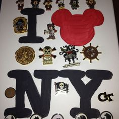 Another Disney pin board
