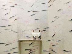 128.80$  Watch here - http://aliwez.shopchina.info/go.php?t=32737555823 - Hot sales Classic style elegant Hand-painted silk wallpaper painting FISH fish wallcovering many arts and background optional 128.80$ #SHOPPING