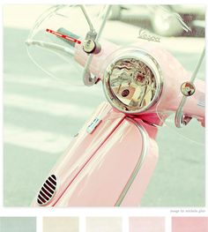 i've always wanted a pink vespa to drive around town