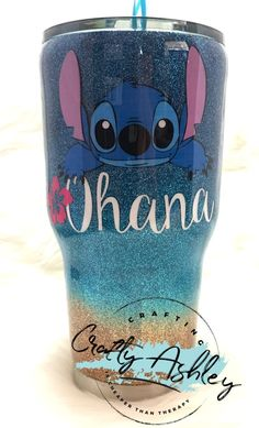 Ohana Stitch tumbler - New Ideas Ohana Stitch tumbler glitter tumbler Ohana, Diy Tumblers, Custom Tumblers, Glitter Tumblers, Disney Tassen, Stitch Disney, Lelo And Stitch, Lilo And Stitch Quotes, Tumblr Cup