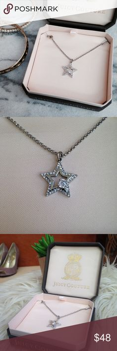 Juicy Couture • star necklace w e l c o m e  t o  m y  c l o s e t   Juicy Couture Pace Star Wish Ink Necklace.            Comes in gift box.                                                             question/unsure? let's talk.                    💌same day or next day shipping  Thanks for looking👀, liking👍, and sharing💕 Juicy Couture Jewelry Necklaces