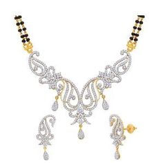 Gold & Rhodium-plated Mangalsutra Set by Peora