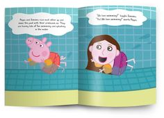 Kids' gift idea: Personalized Peppa Pig book starring your child. (Our kids love seeing their faces + names in books)