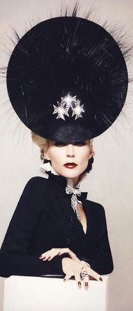 Daphne Guinness and Philip Treacy - Perfection #hat