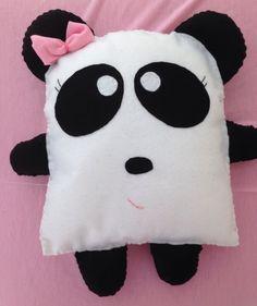almofada-naninha-almofada-panda em feltro