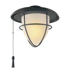 Hampton Bay, Palm Beach 1-Light Gilded Iron Ceiling Fan Light Kit, 72460R at The Home Depot - Mobile