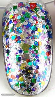 Dump glitter in some clear nail polish, mix it up, and coat your nails in a few layers!