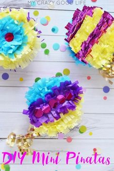For parties, Mini Pinatas favors are a fun way to deliver a special surprise, a festive addition to any party, and they'll bring out the kid in nearly everyone! Cute Kids Crafts, Diy Crafts How To Make, Do It Yourself Crafts, Easy Diy Crafts, Diy Crafts For Kids, Fun Diy, Mini Pinatas, Arts And Crafts Storage, 18th Birthday Party