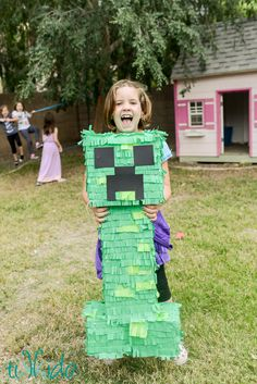 Minecraft Creeper Pinata Tutorial | Tikkido.com