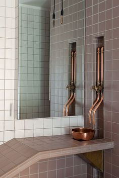 Home Plumbing Systems. Leaky Sink Tail Pipe DoItYourself Com Community Forums. Simple Instructions On Kitchen Sink Drain Installation . Home Improvement Ideas Copper Faucet, Copper Bathroom, Industrial Bathroom, Vintage Industrial, Modern Bathroom, Beautiful Bathrooms, Small Bathroom, Bad Inspiration, Bathroom Inspiration