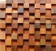 Mosaico de Madeira cod. M0303 | Pedras Decorativas em Curitiba - Decor Pedras