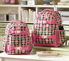Mackenzie Black Geo Backpacks on potterybarnkids.com