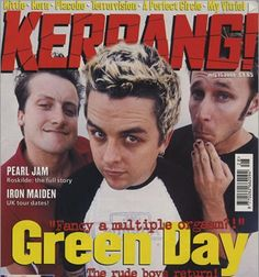 Green Day on the cover if Kerpang magazine