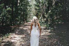 French lace high-neck wedding dress, Ivory, silk chiffon, vintage inspired key hole back sheer lace. $990.00, via Etsy.