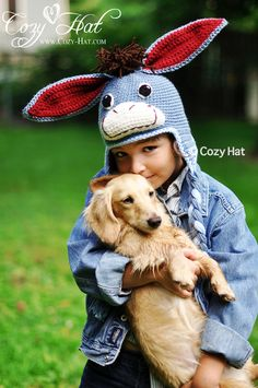 Super Cute Donkey Hat is hand crochet with soft acrylic yarn. Great as a gift or part of your halloween costume.  This hat comes with optional detachable tail and optional mohawk. - See more at: http://www.cozy-hat.com/products/donkey/#sthash.T1NXSUvq.dpuf