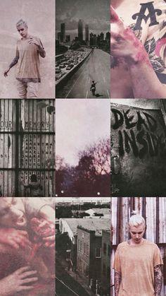 Fan Art of Justin Bieber & The Walking Dead // Pink & B&W