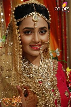 Isn't she is the most gorgeous bride Beautiful Indian Brides, Beautiful Indian Actress, Beautiful Actresses, Beautiful Bride, Indian Bridal Photos, Indian Bridal Fashion, Pakistani Wedding Outfits, Pakistani Bridal, Indian Tv Actress