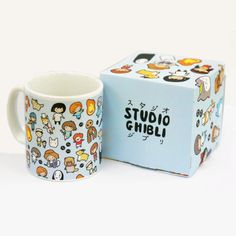Studio Chibi Pattern ~ Studio Ghibli ~ Mug and Box Set