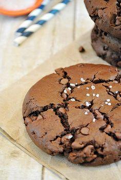 Sea Salt & Olive Oil Brownie Cookies