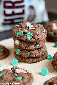Eat Cake For Dinner: Mint Cookies 'n Cream Pudding Cookies