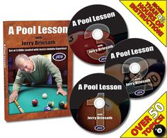 A Pool Lesson With Jerry Briesath DVD Factory sealed 3 dvd set - SportingGoodSo Teaching Style, Dvd Set, Fun Games, Seal, Presents, Books, Clothing Styles, Lawn, Patio