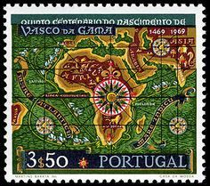 Portugal Vasco da Gama's Route to India single, 1969 Rare Stamps, Vintage Stamps, Going Postal, Tattoo Project, Mail Art, Stamp Collecting, Cartography, History, World