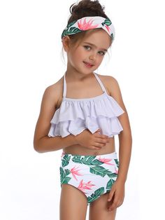 Rashie Assorted Colours /& Sizes 00,0,1,2,3,4,5,6,7,8 Girls White Soda Swim Top