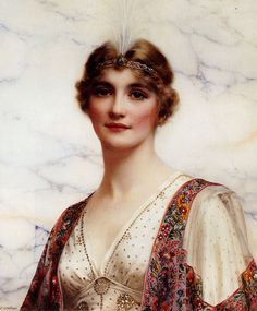 William Clarke Wontner (British 1857–1930) [Portraits, Academicism, Classicism, Romanticism] The Fair Persian, 1916.