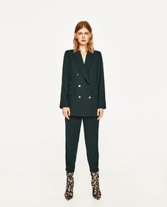 CROPPED TROUSERS WITH STRETCH WAIST-View All-TROUSERS-WOMAN | ZARA Denmark