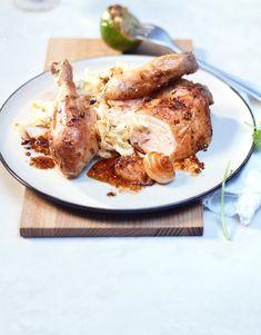 Un peu d'ornithologie avant de passer derrière les fourneaux: savais-tu qu'une poularde n'est pas simplement un poulet? Il s'agit d'une poule engraissée un peu plus longtemps et donc plus lourde. L'avantage des poulardes: plus de viande et plus de saveur. Valeur Nutritive, Nutrition, Saveur, French Toast, Pork, Breakfast, Sprouts, Chicken, Chinese Cabbage