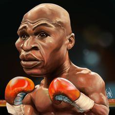 Cartoon: Floyd Mayweather Jr. caricature (medium) by joeymasong tagged caricature,boxer,mayweather