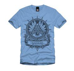 survivalism-tshirt-blue