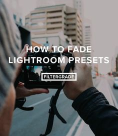 Learn how to fade Lightroom Presets in this quick tutorial.