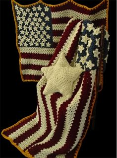 Maggie's Crochet · Americana Afghan, Pillow & Wall Hanging Crochet Pattern
