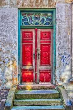 Old red door ~ By Anthony McAulay