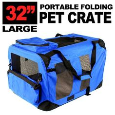 New Large Dog Pet Puppy Portable Foldable Soft Crate Playpen Kennel House - Blue Red Green >>> Continue to the product at the image link. (This is an affiliate link and I receive a commission for the sales) Large Dog Crate, Large Dogs, Small Dogs, Pet Puppy, Pet Dogs, Pets, Dog Kennels For Sale, Indestructable Dog Bed, Wireless Dog Fence
