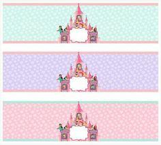 . Disney Princess Party, Princess Birthday, Printable Labels, Party Printables, Free Printables, Disney Water Bottle, Custom Water Bottle Labels, Crafts With Pictures, Happy 1st Birthdays