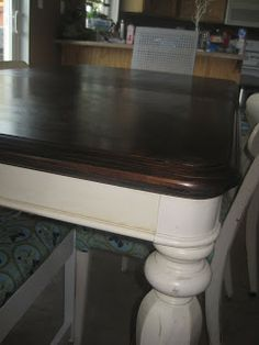 Fabulously Flawed: Refinishing a veneer table...a tutorial