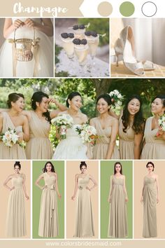 Champagne bridesmaid dresses in 500+ styles, under $100, made to order, all sizes, fast shipping. Great to match green and oasis white colors. #colsbm #bridesmaids #weddings #weddingideas b398 Gold Brides Maid Dresses, Summer Bridesmaid Dresses, Champagne Bridesmaid Dresses, Wedding Bridesmaids, Champagne Wedding Colors, Neutral Wedding Colors, Royal Wedding Guests Outfits, Wedding Attire, Filipiniana Wedding Theme