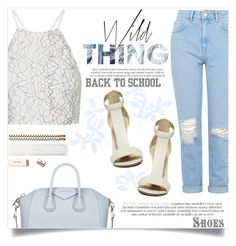"""READYFORSCHOOL."" by fairouze ❤ liked on Polyvore featuring Topshop, Givenchy and Kate Spade"