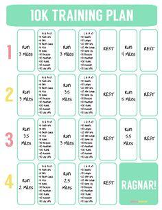 10K Training Plan - 4 Weeks - Ragnar Training