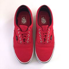 Red Authentic Vans