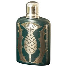 Rare Art Deco Flask with Thistle Motif by Waylande Gregory