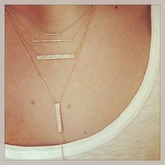 EF Collection layered bar necklaces