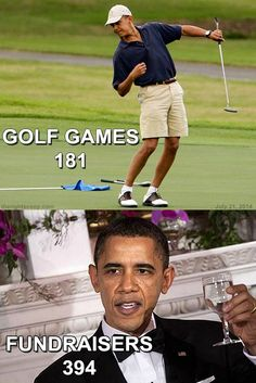 How Many Times Has Obama Golfed And Fund-Raised Since He's Been President?   Posted on July 22, 2014   Read more at http://conservativebyte.com/2014/07/many-times-obama-golfed-fund-raised-since-hes-president/#6hc3QUlOOXx5kQEL.99  July 22, 2014